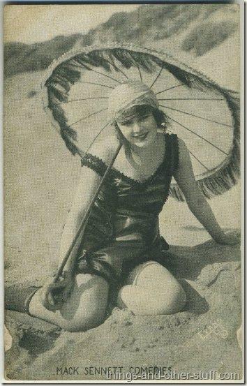 Myrtle Lind 1920s Mack Sennett Comedies Arcade Card