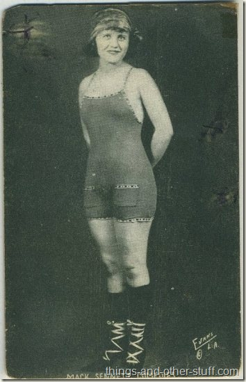 Unidentified 1920s Mack Sennett Comedies Arcade Card