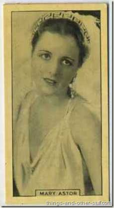 Mary Astor 1928 BAT tobacco card