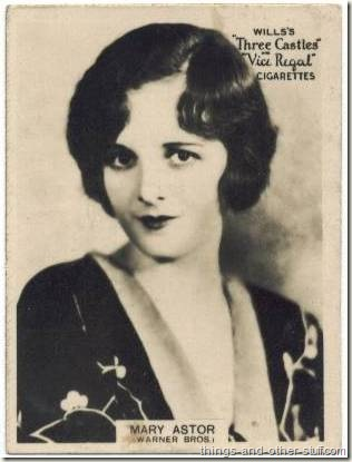 Mary Astor 1928 Wills Famous Film Stars tobacco card