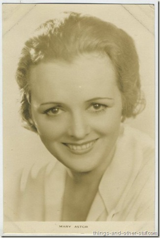 Mary Astor 1930s Film Weekly Postcard