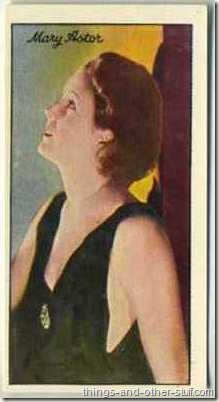 Mary Astor 1935 Carreras Film Stars tobacco card