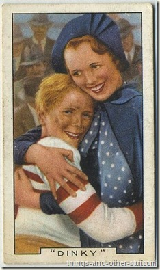 Mary Astor with Jackie Cooper on a 1936 Gallaher tobacco card