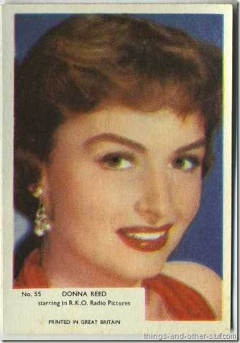 Donna Reed 1955 Kane Products Trading Card