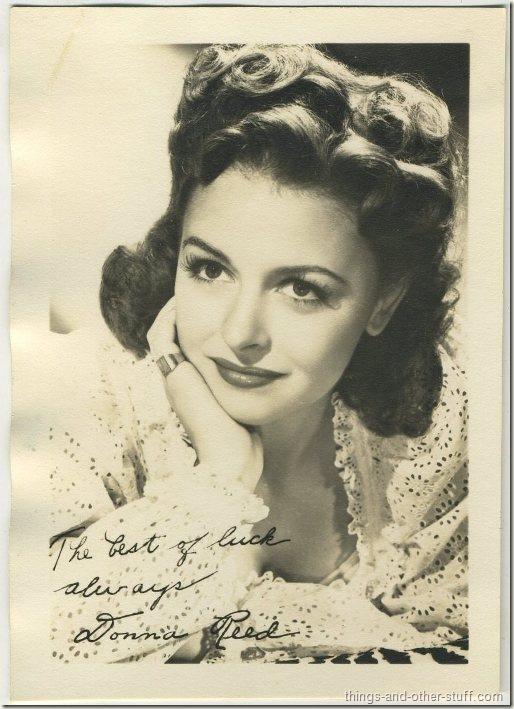Donna Reed 1940's era fan photo