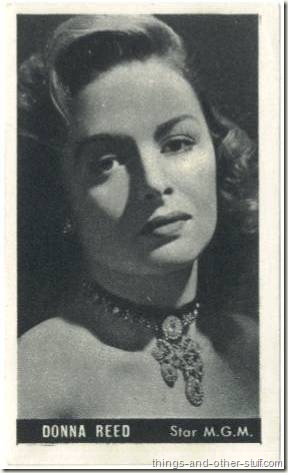 Donna Reed 1947 Kwatta paper stock movie card