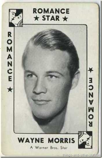 Wayne Morris 1938 card from Movie Millions Game Set