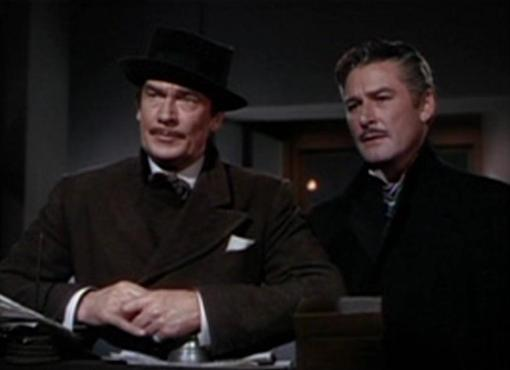Walter Pidgeon and Errol Flynn in That Forsyte Woman