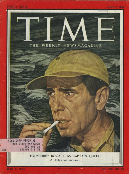 Humphrey Bogart on the cover of Time Magazine, June 7, 1954