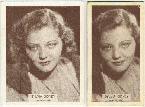 Medium and small 1934 Wills Famous Film Stars Tobacco Cards