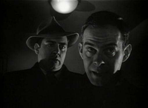 Raymond Burr and Harry Morgan in Red Light
