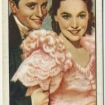 Frank Lawton and Maureen O'Sullivan 1935 Gallaher Tobacco Card