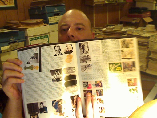 One of my dog eared pages and yes, that's Jimmy Cagney at the top.