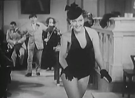 Suzanne Kaaren and The Three Stooges in Disorder in the Court