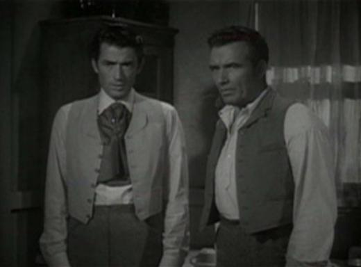 Gregory Peck and Preston Foster in The Valley of Decision