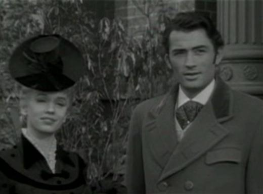 Jessica Tandy and Gregory Peck in The Valley of Decision