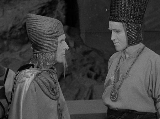 Alan Napier and Arthur D. Gilmour in The Mole People
