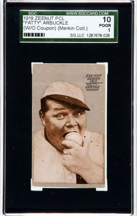 1919 Fatty Arbuckle Zeenut Baseball Card