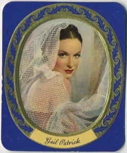 Panther Woman Runner Up Gail Patrick Garbaty Tobacco Card