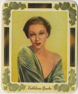 Kathleen Burke 1930s Garbaty Tobacco Card