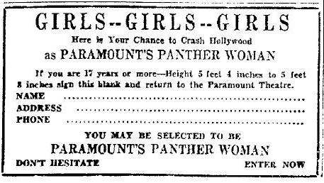 Panther Woman Contest Form