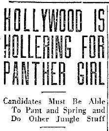 Hollywood Is Hollering for Panther Girl