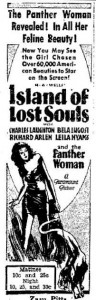 Island of Lost Souls advertisement