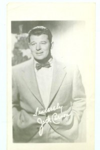 Jack Carson Fan Photo