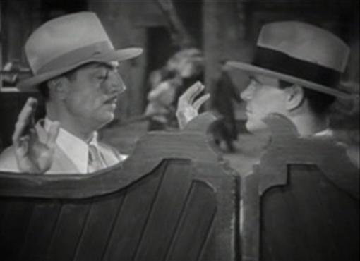 William Powell and Warren Hymer in One Way Passage