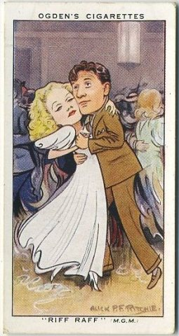Jean Harlow and Spencer Tracy 1936 Ogdens Tobacco Card