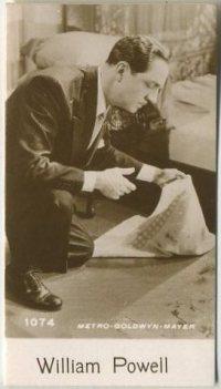 William Powell 1940 De Beukelaer Trading Card