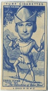 Errol Flynn 1949 Turf Tobacco Card