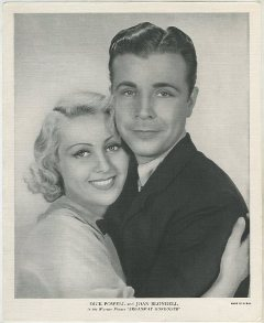 Joan Blondell and Dick Powell 1936 R95 8x10 Linen Textured Photo