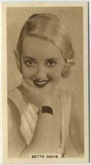 Bette Davis 1933 United Kingdom Tobacco Card