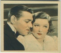 Clark Gable and Myrna Loy 1934 Godfrey Phillips Tobacco Card