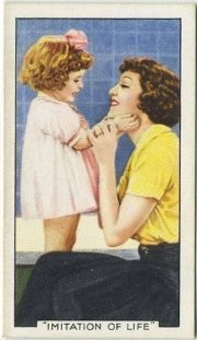 Claudette Colbert and Baby Jane 1935 Gallaher Tobacco Card