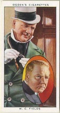 WC Fields 1938 Ogdens Tobacco Card