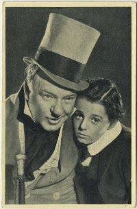 WC Fields and Freddie Bartholomew 1940 Wix Tobacco Card
