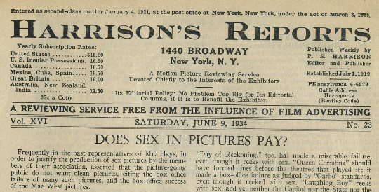 Harrisons Reports June 9 1934