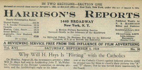 Harrisons Reports September 8 1934