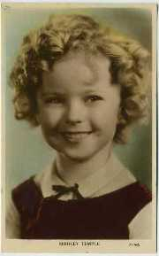 Shirley Temple 1930s Color Tinted Postcard