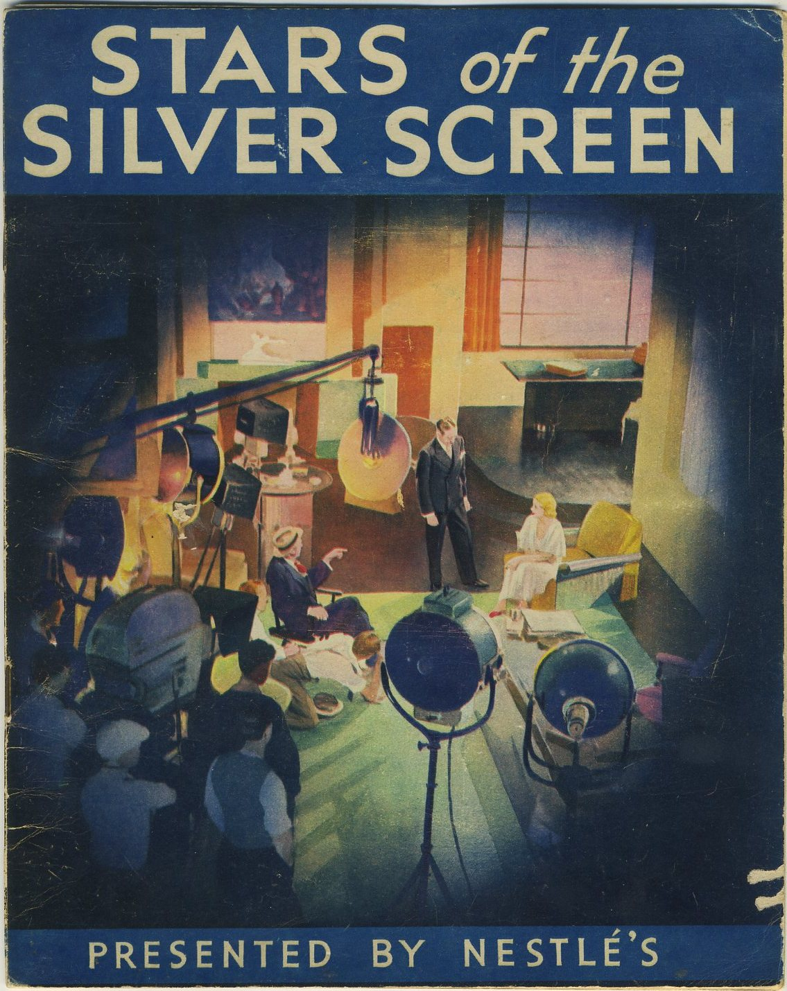 Front cover of the 1936 Nestle Stars of the Silver Screen Album