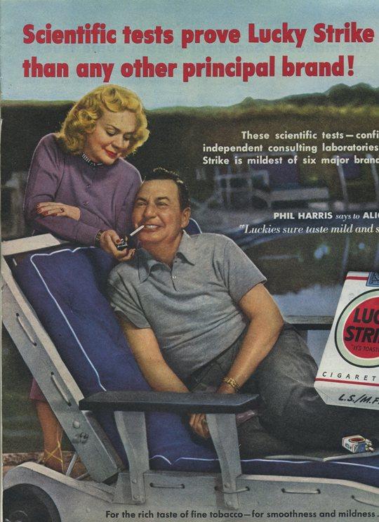 Alice Faye and Phil Harris 1950 Advertisement