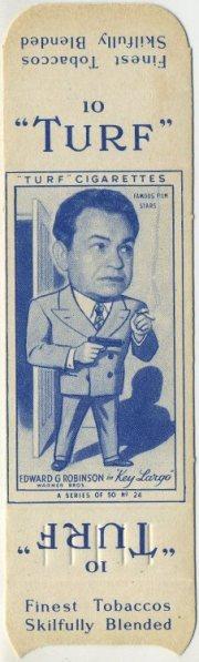 Edward G Robinson 1949 Turf Uncut Card