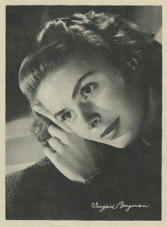 Ingrid Bergman 1946 Motion Picture Magazine Premium Photo
