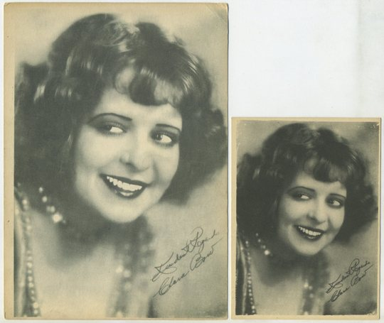 Clara Bow small Kashin card and 5x7 version