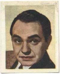 Edward G Robinson Foto Peculia Trading Card