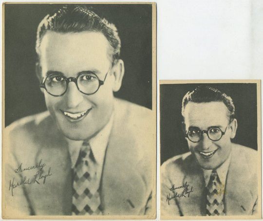 Harold Lloyd small Kashin card and 5x7 version