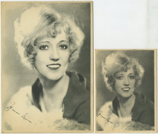 Marion Davies small Kashin card and 5x7 version