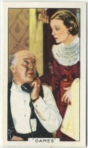 Guy Kibbee and ZaSu Pitss 1935 Gallaher Tobacco Card